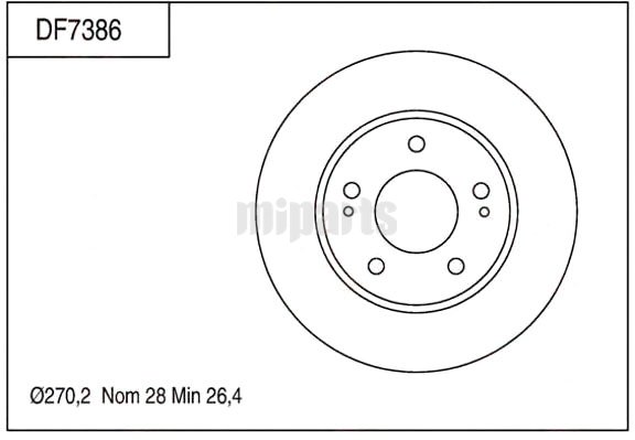 mitsubishi brake disc df7386 mn102275t  30 00 at miparts