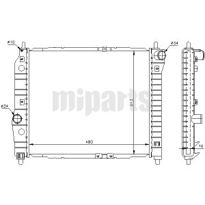 Marvelous 96816481 Wholesale Daewoo Chevrolet Radiator Engine Cooling Miparts Wiring Digital Resources Talizslowmaporg