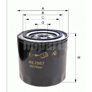 8941494180 ASAKASHI OIL FILTER B3 B6 FS 3G83 4A30