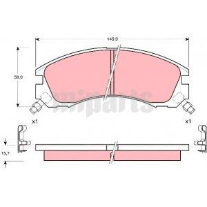 MR389549 Wholesale Mitsubishi Brake Pad Set, disc brake