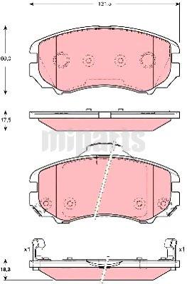 kia brake pad set disc brake gdb3386 581011fe01 2008 kia sportage timing belt location