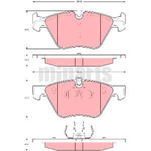 Brake Pad Set, disc brake:34116763618
